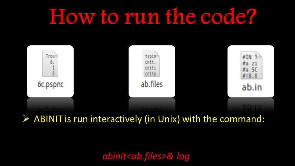 نحوه اجرای کد abinit